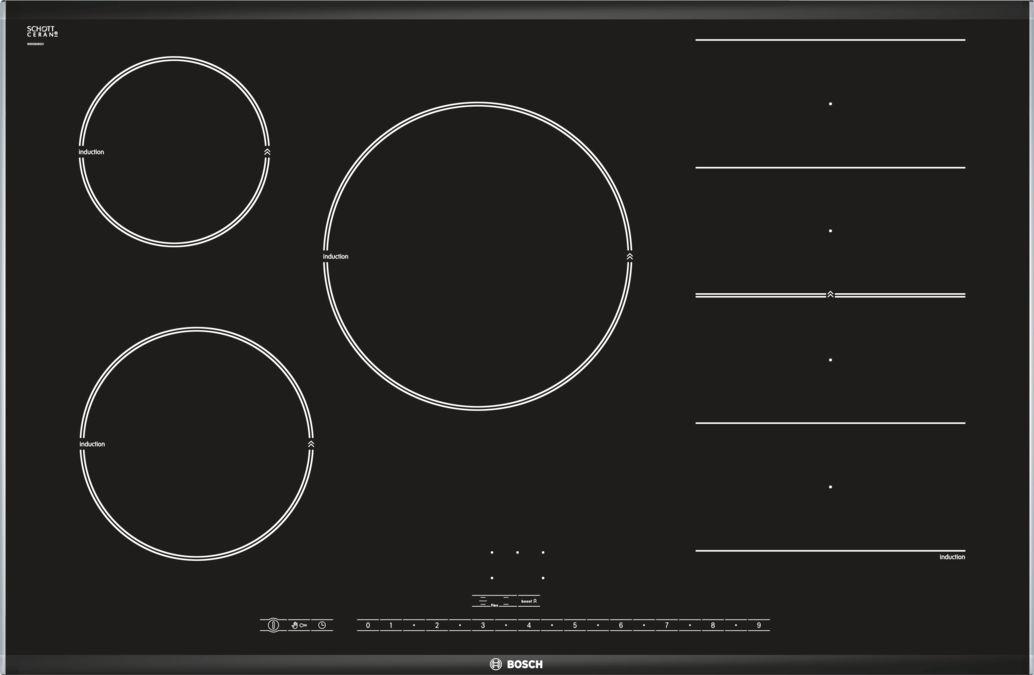 Piano cottura ad induzione 80 cm - vetroceramica - Serie   8 ...