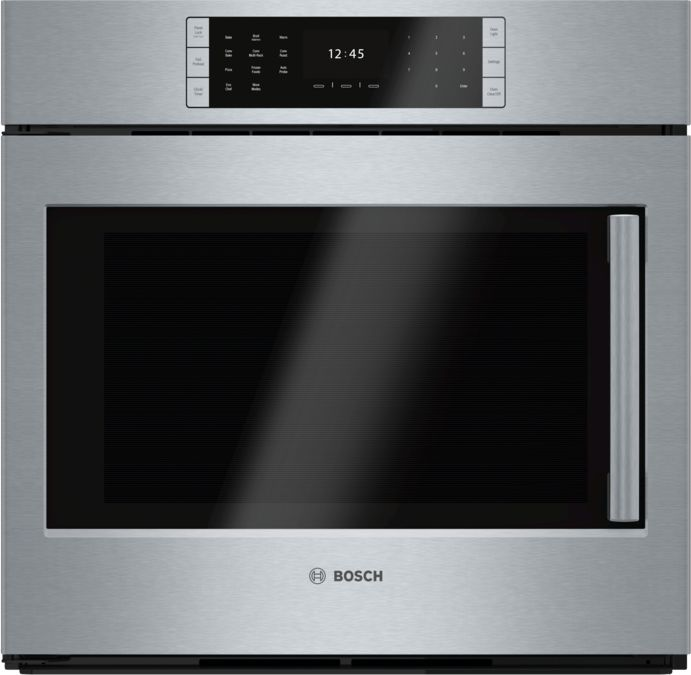 30 Single Wall Oven Left Sideopening Door Hblp451luc Stainless Steel Benchmark Bosch