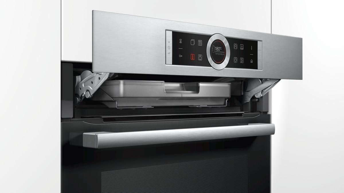Hrg635bs1 forno con aggiunta vapore serie 8 hrg635bs1 bosch - Forno con cottura a vapore ...