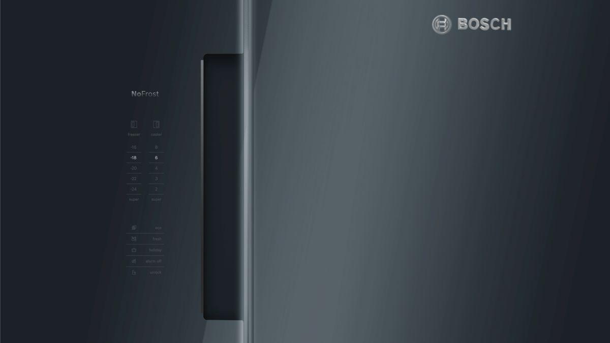 Bosch Kühlschrank Schwarz Glas : Nofrost kühl gefrierkombination side by side glastüren schwarz