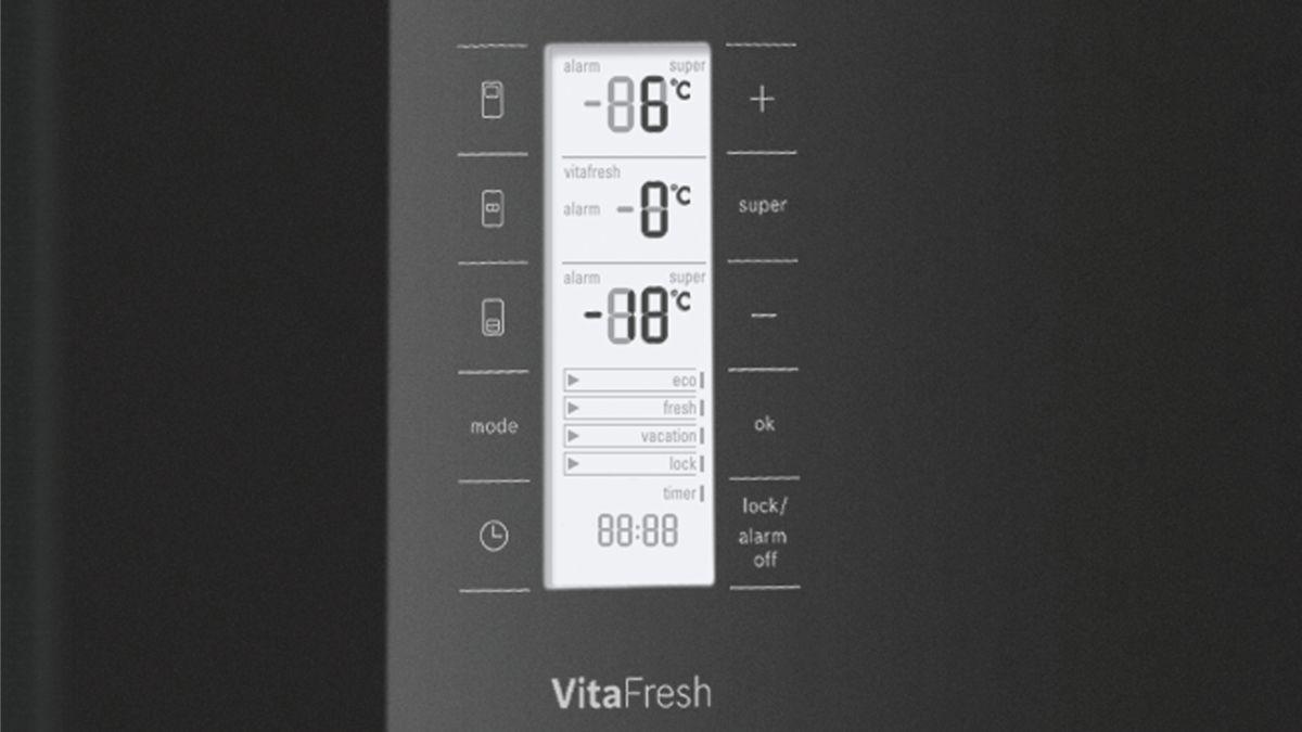 Bosch French Door Kühlschrank : Türen schwarz nofrost kühl gefrierkombination french door