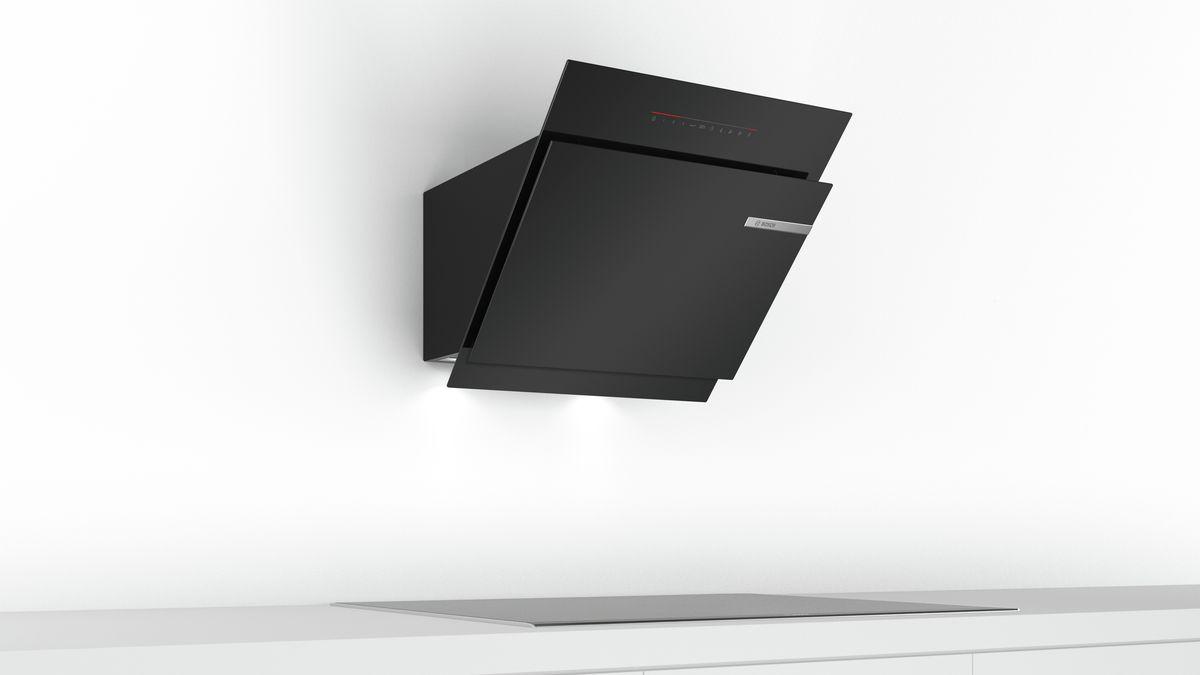 Wandesse 60 cm schräg essen design schwarz serie 6 dwk67jq60