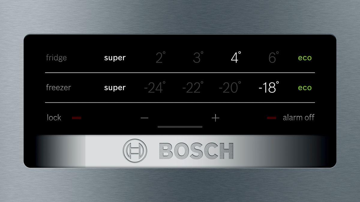 Bosch Kühlschrank Alarm Leuchtet : Nofrost kühl gefrier kombination türen edelstahl mit anti
