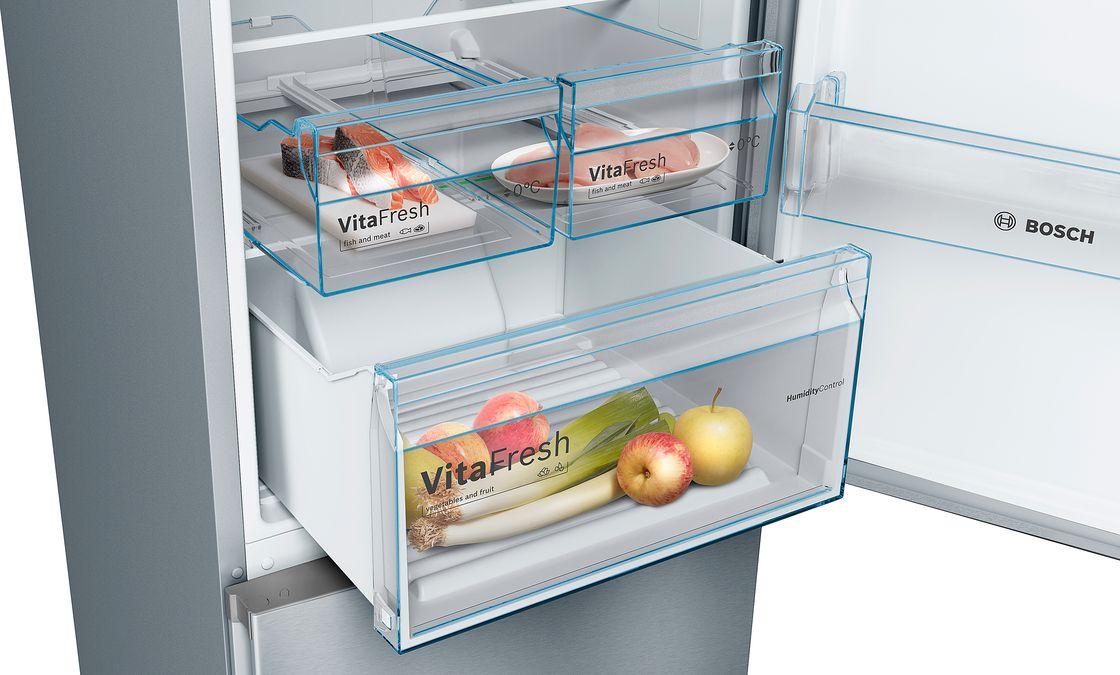 Bosch Kühlschrank Kälte Einstellen : Kühl gefrierkombination serie kgn vl bosch