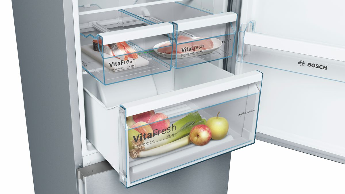 Bosch Kühlschrank Handbuch : Nofrost kühl gefrier kombination türen edelstahl mit anti
