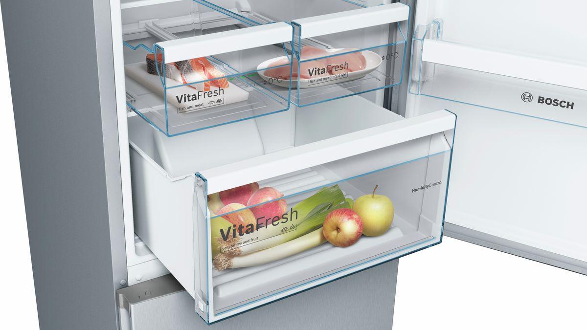 Bosch Kühlschrank 60er Jahre : Nofrost kühl gefrier kombination türen edelstahl optik serie 4
