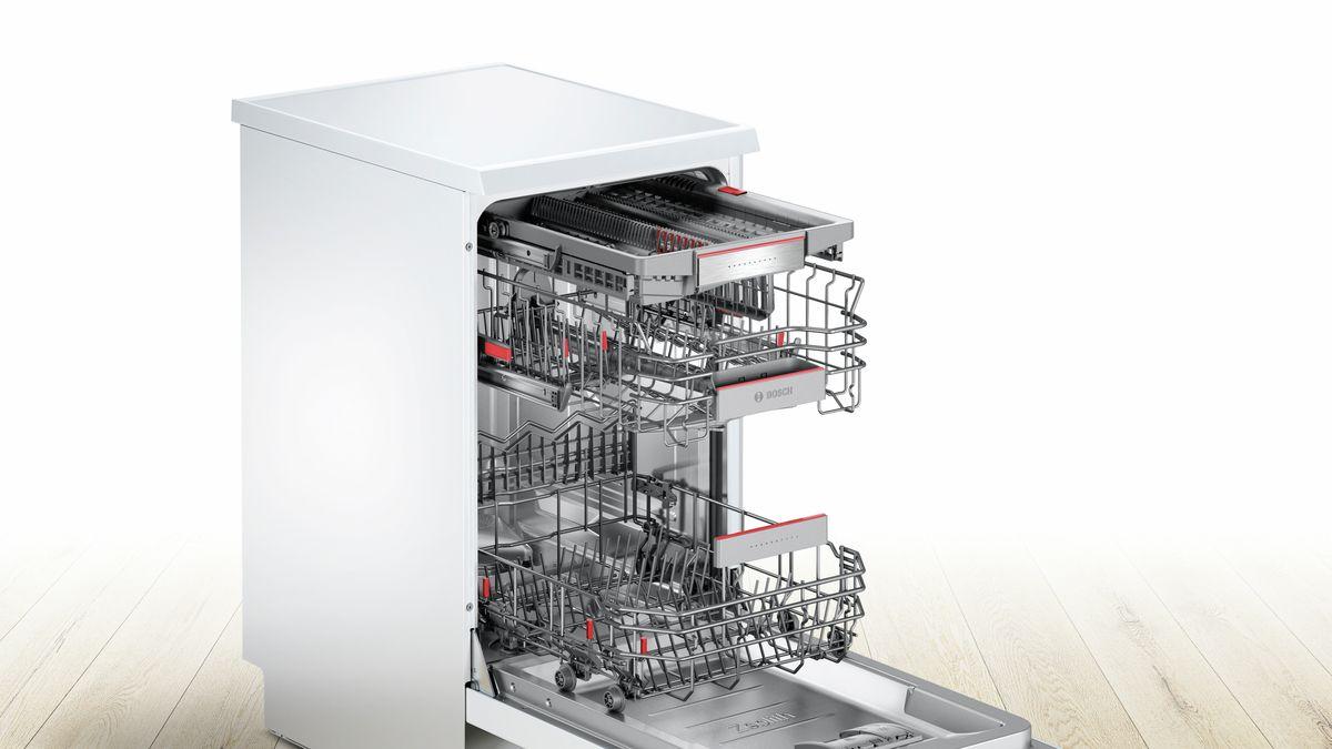 lave vaisselle 45 cm supersilence pose libre blanc serie 6 sps66tw00e bosch. Black Bedroom Furniture Sets. Home Design Ideas