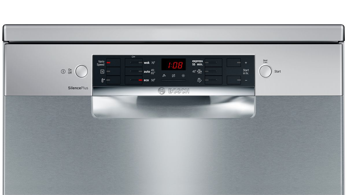 Bosch Sms46gi01p Free Standing Dishwasher