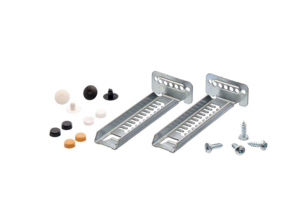Fixing Kit Toe Kick Mounting Brackets 2 Pcs W S Caps Set 00612653