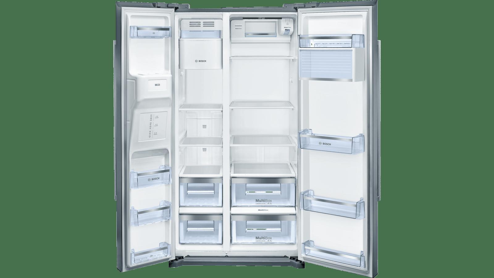 Refrigerateur Americain Faible Largeur série 6 sideside américain 177 x 91 cm inox anti trace de doigts  kad90vi30