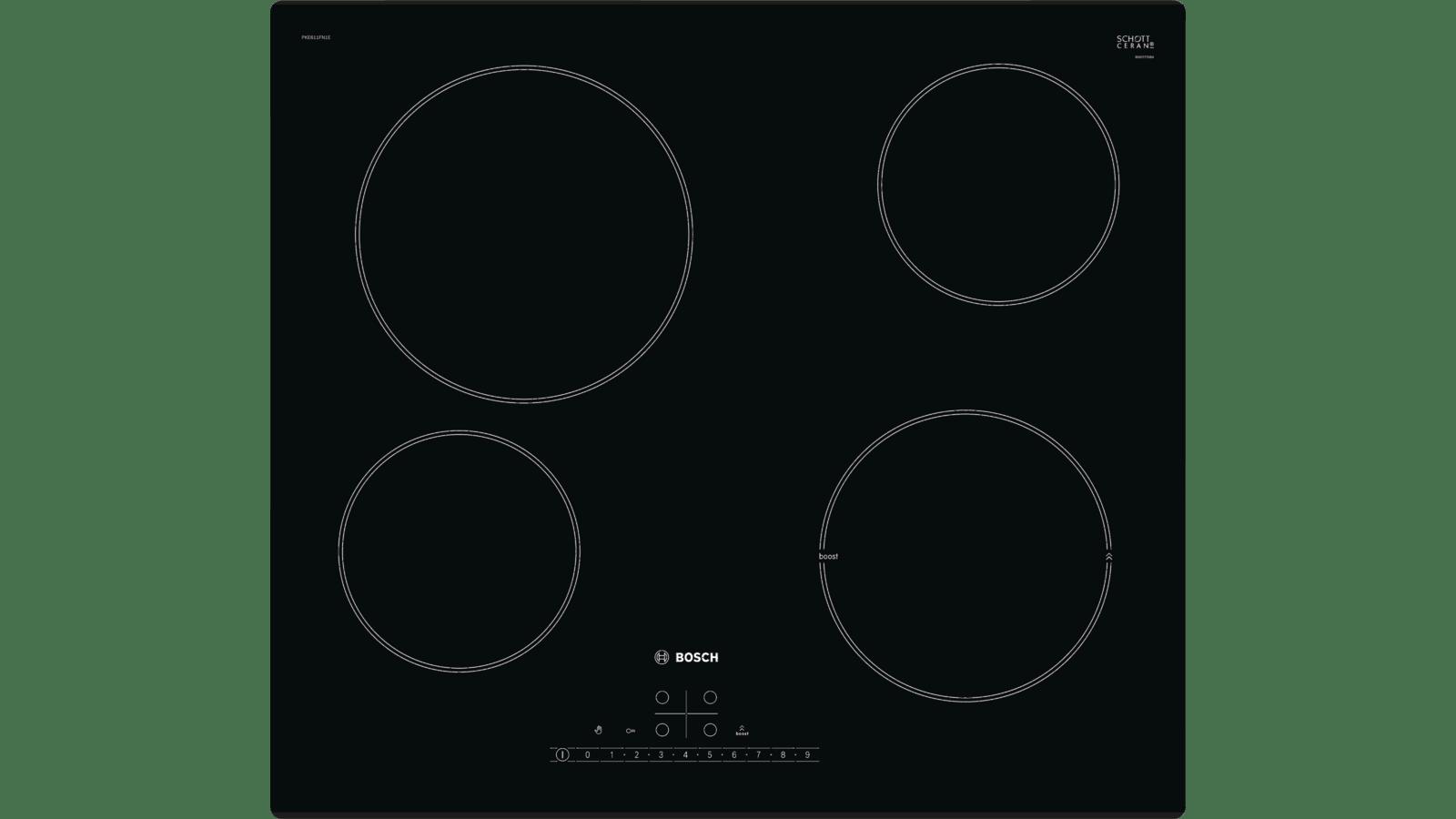 Comparatif Plaque Mixte Induction Gaz série 6 table électrique 60 cm noir pke611fn1e