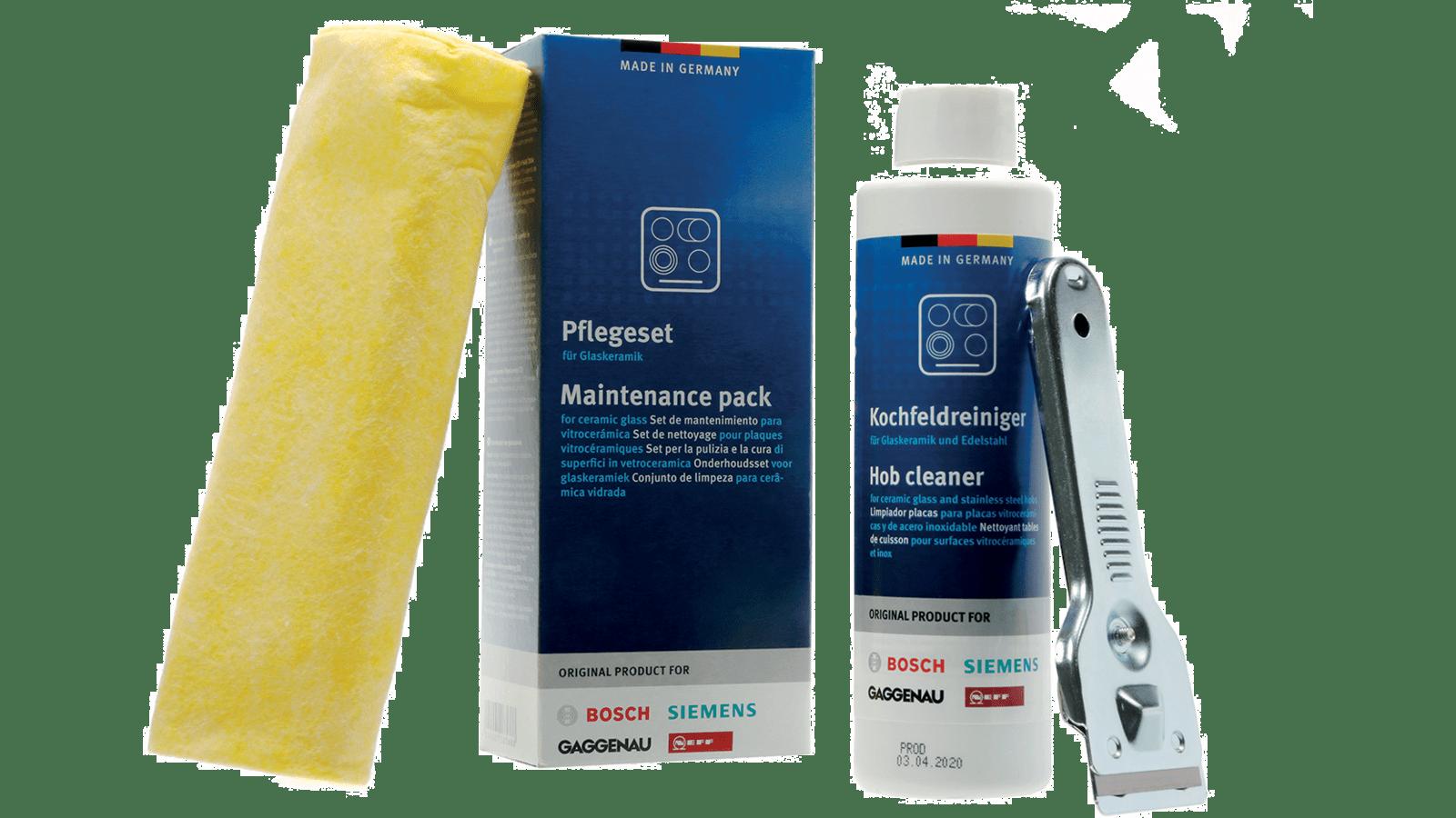 Produit Pour Nettoyer Vitroceramique set de nettoyage pour plaques vitrocéramiques made in germany 00311900