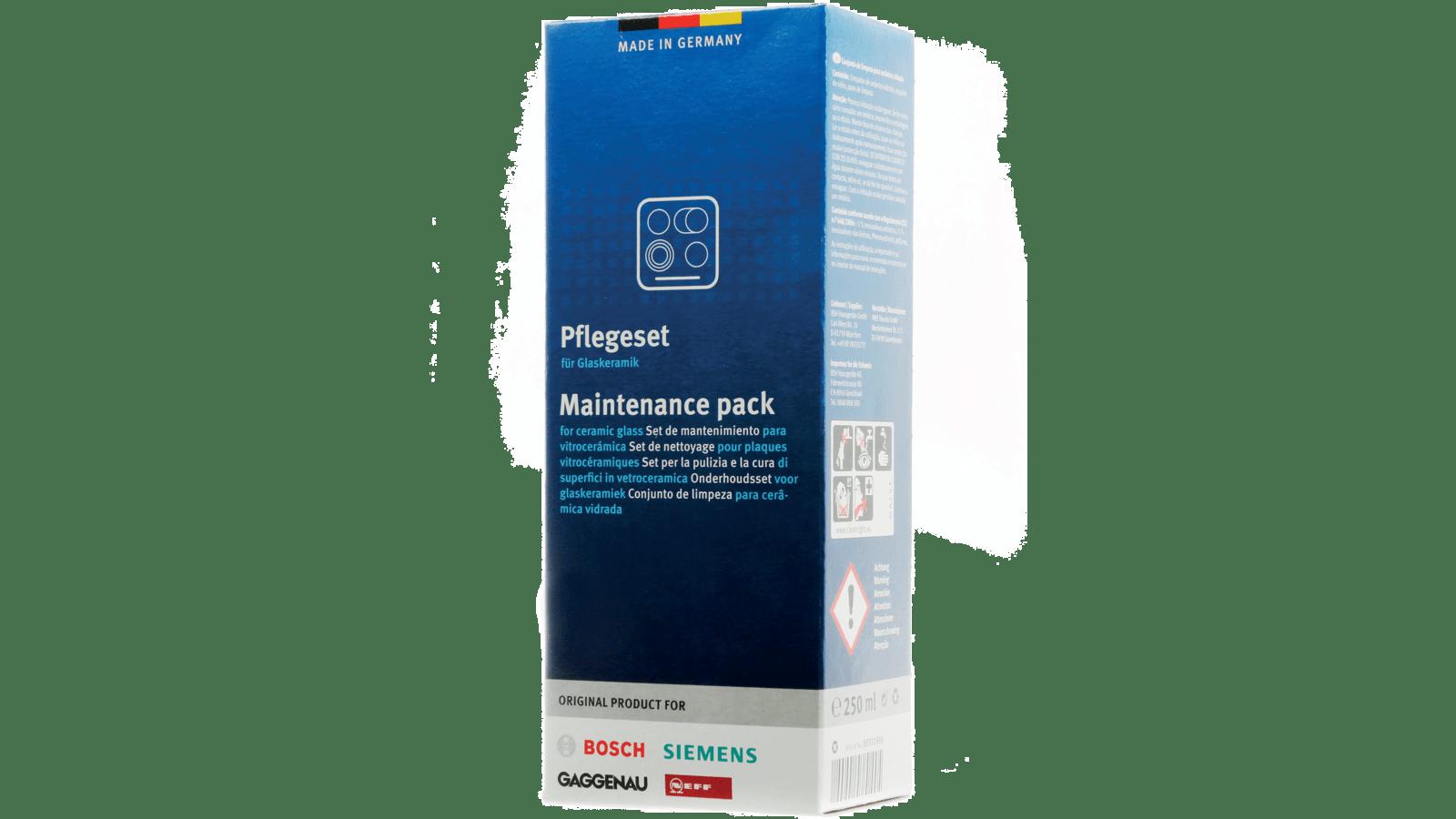 Produit Pour Nettoyer Plaque À Induction set de nettoyage pour plaques vitrocéramiques made in germany 00311900
