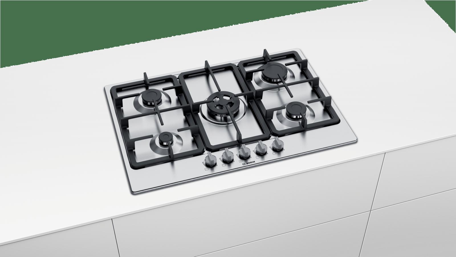BOSCH pbp6b5b80 Gas Piano cottura in acciaio inox-organismo monastica giacimento 60cm NUOVO
