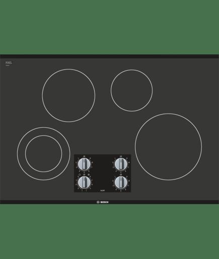 30 Quot Knob Control Electric Cooktop Nem5066uc Black