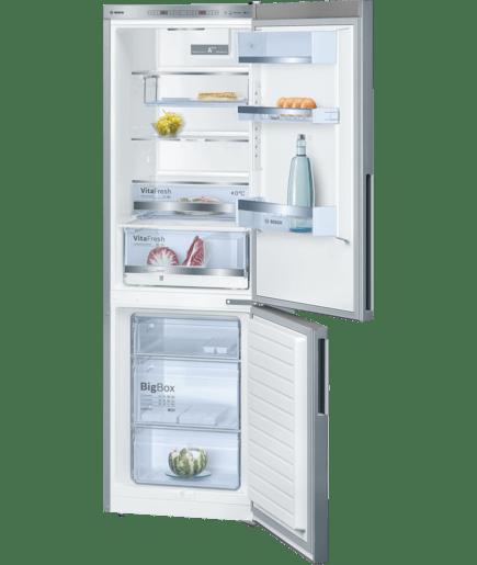 Inox look frigo congelatore da libero posizionamento serie 6 kge36bl41 bosch - Elenco utensili da cucina ...