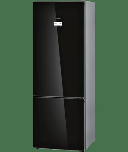 Bottom Freezer Black Glass Door Serie 6 Kgn56lb30n