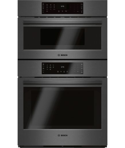 30 Combination Wall Oven With Sd Hbl8742uc Black Stainless Steel Bosch