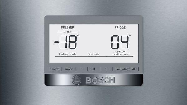 Serie | 6 Szabadonálló, alulfagyasztós hűtő-fagyasztó kombináció 193 x 70 cm Nemesacél (ujjlenyomat mentes borítás) KGN56AI30 KGN56AI30-4