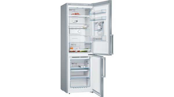 Serie | 4 Free-standing fridge-freezer with freezer at bottom 186 x 60 cm Inox-easyclean KGD36VI30G KGD36VI30G-1
