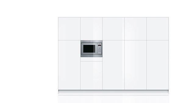 Bosch hmt75m551 Installation-Micro-ondes Acier Inoxydable pour niche 50 cm 17 L