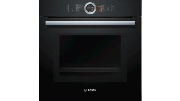Bosch HNG6764B6 schwarz Mikrowellen Backofen mit