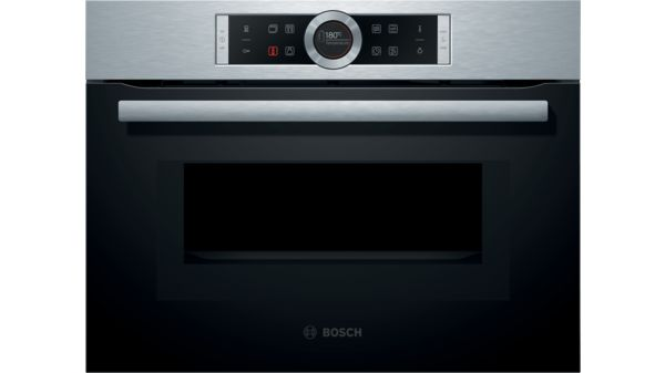 Serie 8 Built In Compact Oven With Microwave Function Stainless Steel Cmg633bs1b
