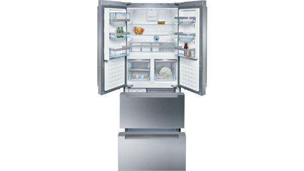 Side By Side Kühlschrank Türen Demontieren : Türen edelstahl mit anti fingerprint nofrost kühl