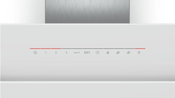 4cc680f3457 Serie | 6 Campana decorativa diseño inclinado de cristal Cristal blanco  Ancho 90 cm DWK98JQ20-
