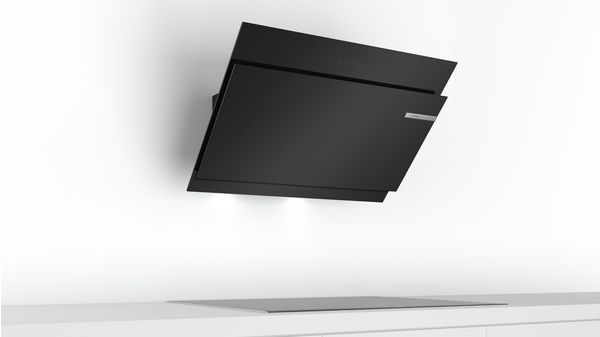 Serie | 6 Wall-mounted cooker hood 90 cm clear glass black printed DWK98JM60 DWK98JM60-7