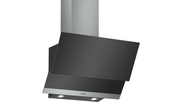 Serie | 4 wall-mounted cooker hood 60 cm clear glass black printed DWK065G60I DWK065G60I-1