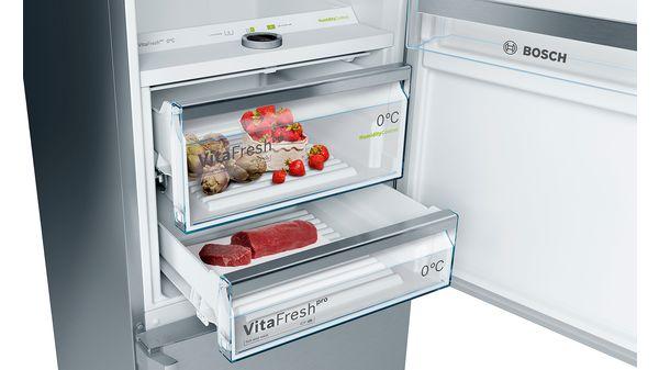 Kühlschrank Nofrost : Nofrost kühl gefrier kombination türen edelstahl mit anti
