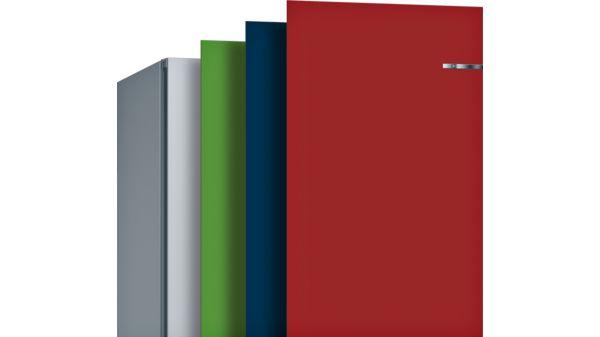 Serija |  4 Samostojna kombinacija hladilnika in zamrzovalnika s spodnjo zamrzovalno površino in izmenljivimi barvnimi sprednjimi deli 203 x 60 cm KVN39IG4C KVN39IG4C-12