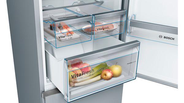 Serija |  4 Samostojna kombinacija hladilnika in zamrzovalnika s spodnjo zamrzovalno površino in zamenljivimi barvnimi frontami 203 x 60 cm KVN39IG4C KVN39IG4C-25