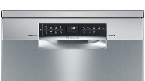 Serie   6 SuperSilence 60 cm dishwasher NO_FEATURE Freestanding - silver inox-4