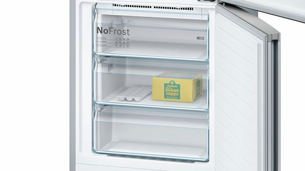 Serie   4 Free-standing fridge-freezer with freezer at bottom 203 x 70 cm Inox-look KGN49XL30G KGN49XL30G-2