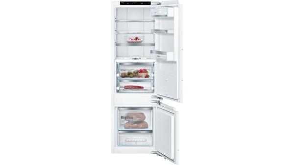 Kühlschrank Kombi : Einbau kühl gefrier kombination flachscharnier serie