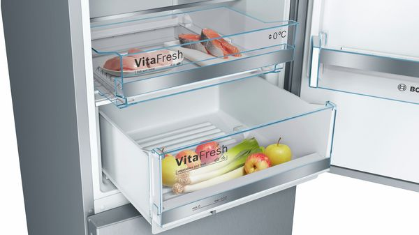 Bosch Becks Kühlschrank : Türen edelstahl mit anti fingerprint kühl gefrier kombination
