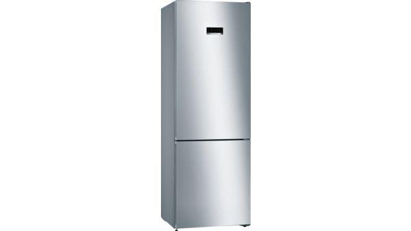 Serie   4 Free-standing fridge-freezer with freezer at bottom 203 x 70 cm Inox-look KGN49XL30G KGN49XL30G-1