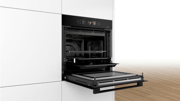 bosch hng8764c6 einbau backofen mit mikrowellen und. Black Bedroom Furniture Sets. Home Design Ideas