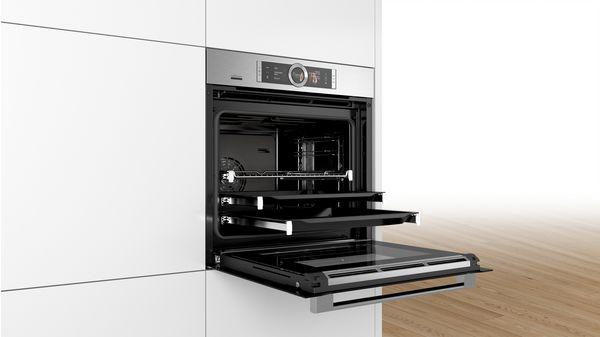 bakoven met stoom serie 8 hsg636xs6 bosch. Black Bedroom Furniture Sets. Home Design Ideas