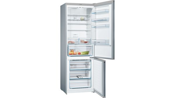 Serie   4 Free-standing fridge-freezer with freezer at bottom 203 x 70 cm Inox-look KGN49XL30G KGN49XL30G-4