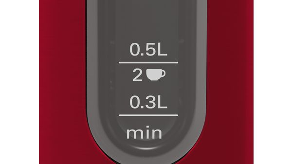 DesignLine Boiler 1.7 l Red TWK4P434 TWK4P434-2