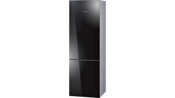Bosch Kühlschrank Schwarz : Glastüren schwarz seitenwände chrome inox metallic kühl gefrier