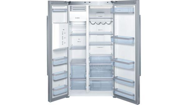Side By Side Kühlschrank Db : Türen edelstahl mit anti fingerprint kühl gefrierkombination side