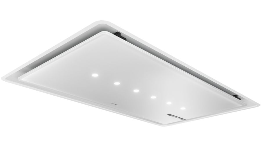 Dampkap Plafonddampkap - afvoergroep 91x51cm - 458 / 933 m?/u - 56dB - randafzuiging - LED verlichting - PerfectAir - BLDC - wit glas - HoodControl