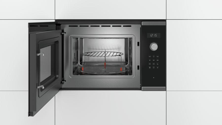 Serie 6 Microgolfoven 900W - 1200W grill - AutoPilot 8 - LED verlichting -  25 liter (draaiplateau 31,5cm) Inox